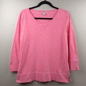 J.Crew Pink Spindrift Crew Neck Sweatshirt Size L
